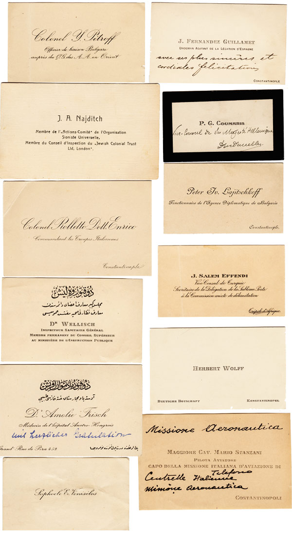 Calling cards, Constantinople - ca 1909