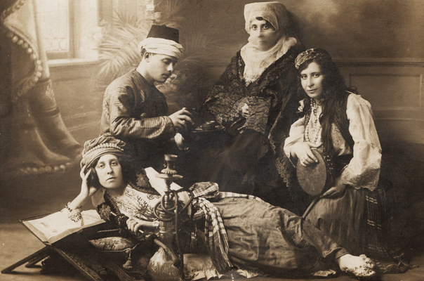 Israel with Bertha, Eva and Ronya in Constantinople - 1910