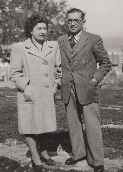 Michel and Grete Katz, Palestine