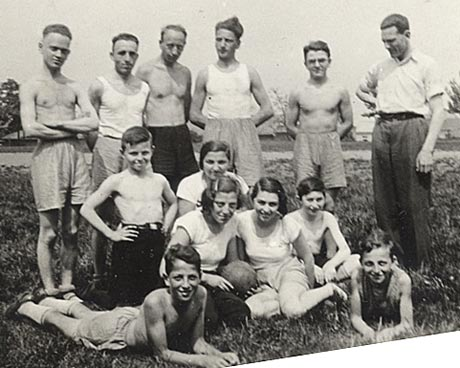 Toni with Bar Kochba group, 1933 or 1934